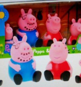 Два Набора Свинка Пеппа семья + домик