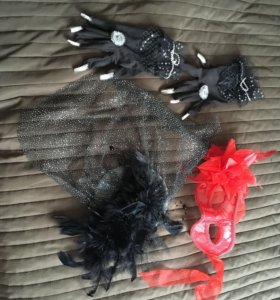 Шляпка, перчатки, маска- набор фея