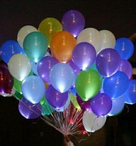 Шар со светодиодом. гелиевые шары