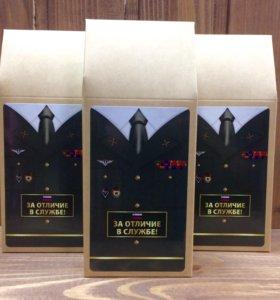 Чай или кофе в Подарочной коробке на 23 февраля