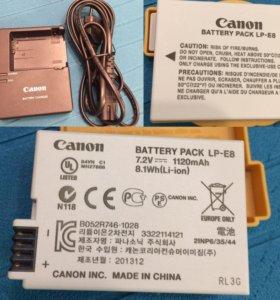 Canon LP-E8 и Canon LC-E8E.