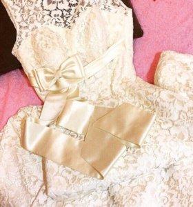 Выпускное платье( свадебное)