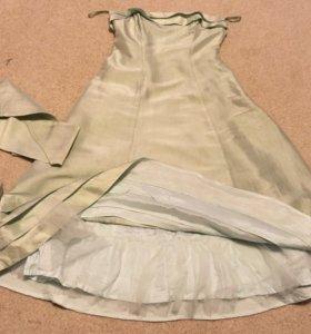 Платье нежно мятный цвет