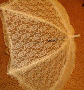 Зонт кружевной для невесты