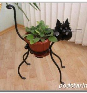 Кот -цветочник
