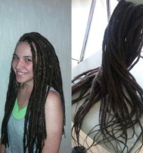 Афропрически косы дреды