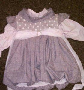 Сарафан и блузка (5-12мес)