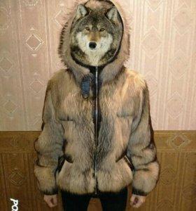 Продам шубу-куртку из волка