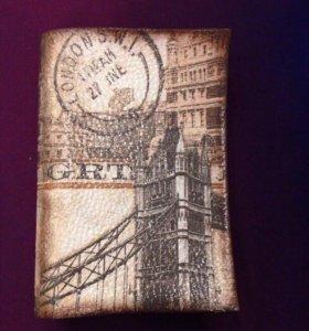 Кожаная обложка на паспорт ( декупаж)