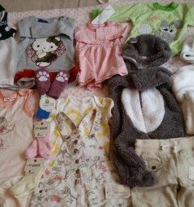 Детская одежда, платье,боди,комбинезон.1-3-6-9мес