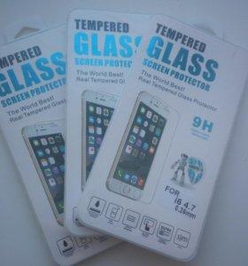 Закаленное стекло на 6 iphone