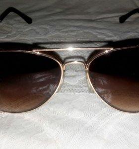 Очки с градиентом, коричневые, мало б/у