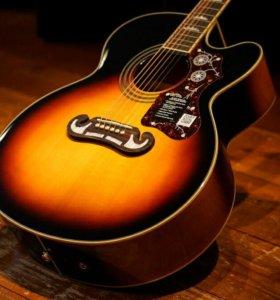 Электроакустическая гитара Epiphone EJ-200CE