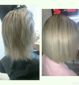 Восстановление и выравнивание волос /керапластика