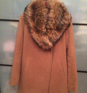 Пальто с мехом осень-зима