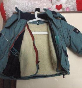 Куртка осень-зима,с отстегивающимся подкладом