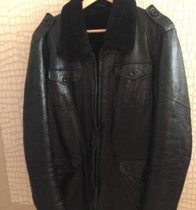 Кожаная куртка зимняя 48р