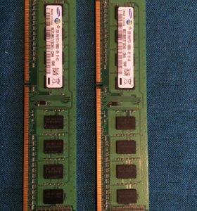 Samsung 2Gb ddr3 2 шт