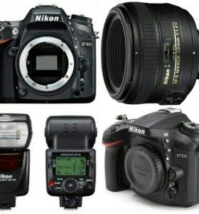 Комплект Nikon D7100 50mm f1.4 + Вспышка SB700