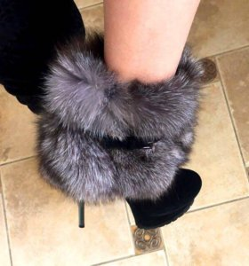 Зимние сапожки натуральный мех/ замша 39 размер