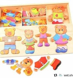 Деревянные игрушки-развивашки