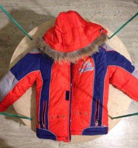зимняя куртка для мальчика 4-5 лет