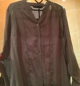Новая Длинная рубашка-блуза