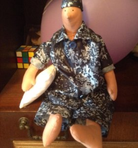 """Кукла """" Военный с подушкой"""""""