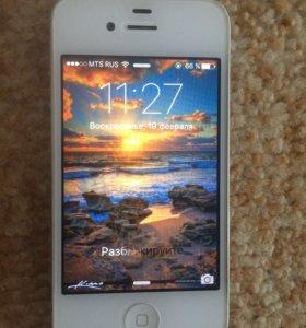 iPhone 4s + портативная зарядка в подарок