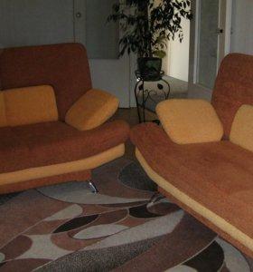 Продам два дивана:раскладной(2м) и нераскладной