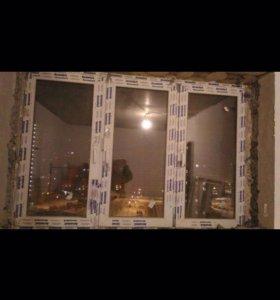 Пластиковое окно+пласт.окно+дверь