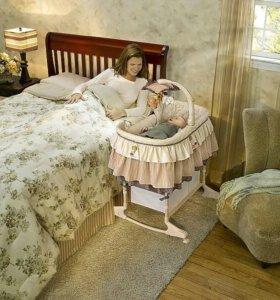 Кроватка-люлька Jetem Sweet Dream 3в1и подарочки