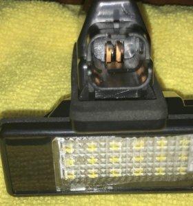 Фонари светодиодные подсветки номера автомобиля.