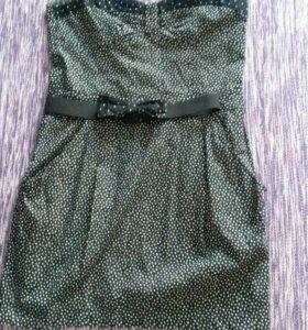 Платье в горошик