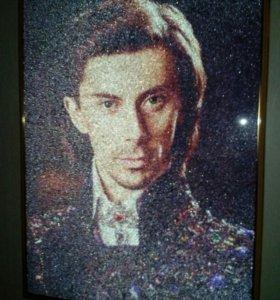 Хрустальный портрет, портрет по фото