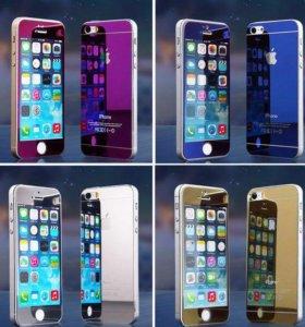 Двухсторонние цветные бронестекла на iPhone