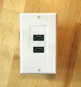 HDMI розетка с двумя разъемами
