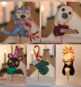 Фетровые игрушки на заказ