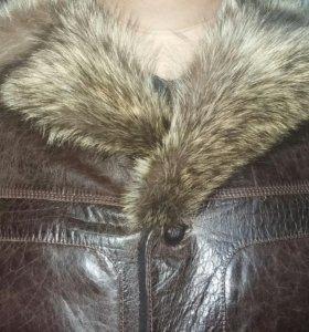 Натуральная, зимняя кожанная куртка