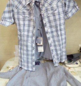 Кофта,джемпер и рубашка 140-146на мальчика