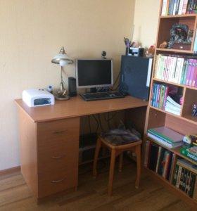 Книжный шкаф+ рабочий стол