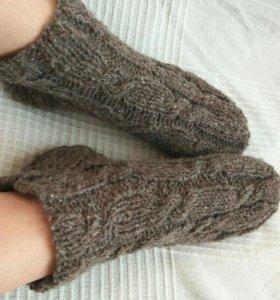 Шерстяные вязаные носки