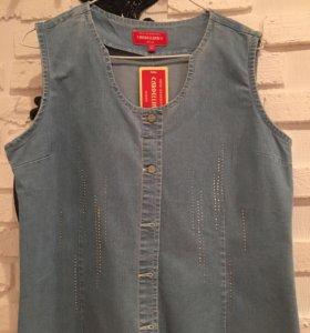 Джинсовая рубашка / жилет