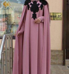 Платье-абая с кейпом
