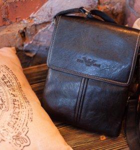 Мужская сумка Armani + Часы Armani