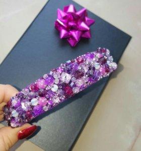 Ободок с камнями в подарочной упаковке