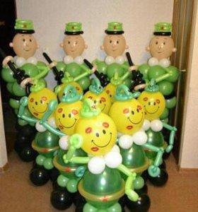 Фигуры из шаров. Воздушные шары.