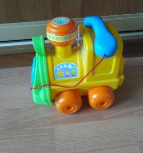 Каталка-паровозик