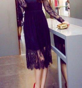 Новое кружевное платье