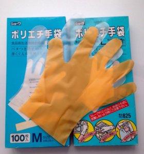 Перчатки полиэтиленовые одноразовые